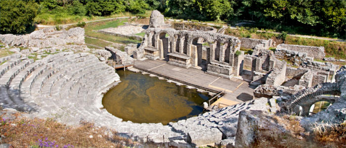 The ancient amphitheatre in Butrint