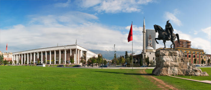 The capital of Tirana in Albania