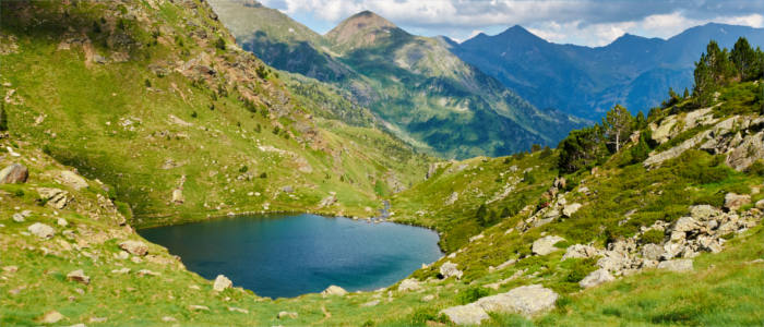 Mountain lakes in Andorra