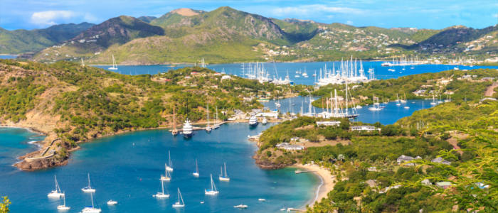 The English harbour of Antigua