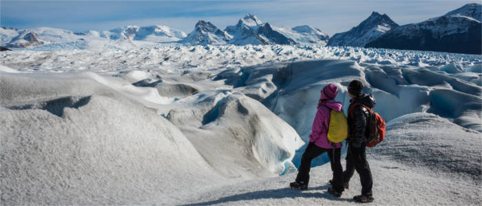 Hiking at Patagonia's glaciers