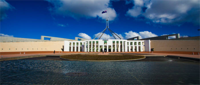 Seat of the government in Canberra
