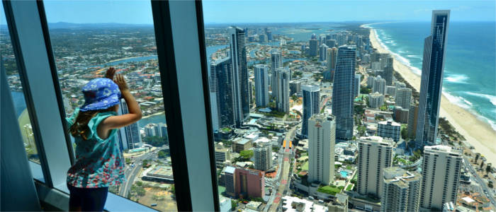 View over the Gold Coast