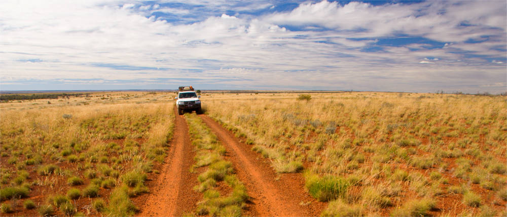 Cross country vehicle in the Golden Outback
