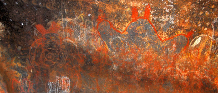 Cave painting in the Grampians