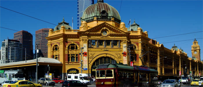 Station building in Melbourne