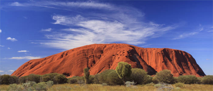 Famous rock in the north of Australia