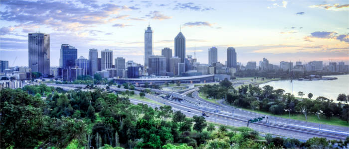 Panoramic view of Perth