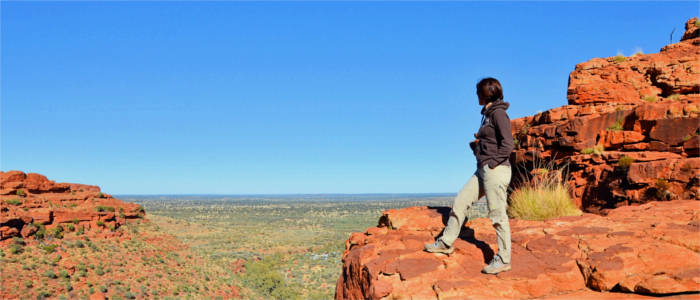 Hiker in the Red Centre - Northern Territory