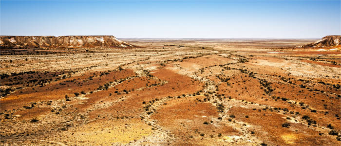 Dry landscape in South Australia