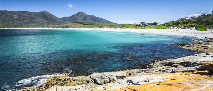 Famous bay in Tasmania