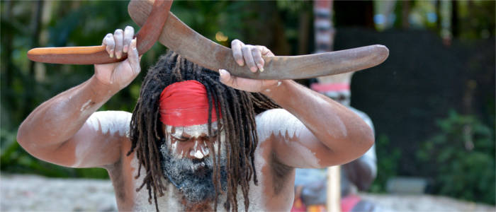 Ritual of the aborigines, Australia's native inhabitants