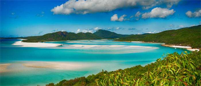 Famous beach on the Whitsunday Islands