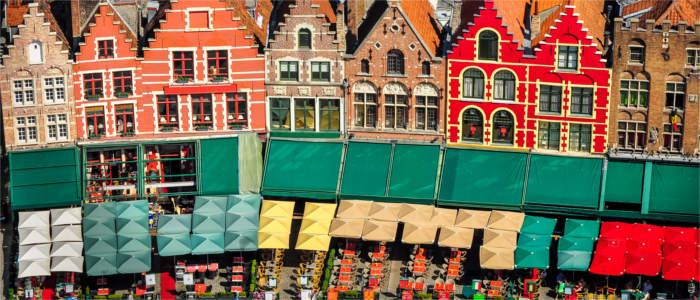 The historical city of Bruges in Belgium