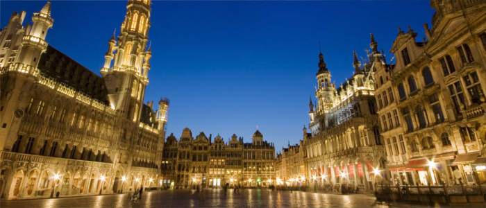 Grand Place in Brussels in Belgium