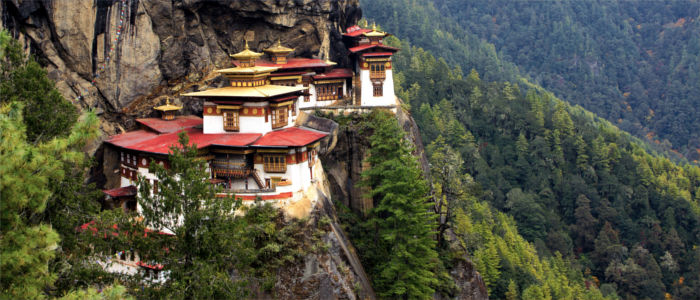 Taktshang Palphug Monastery in the mountains in Bhutan