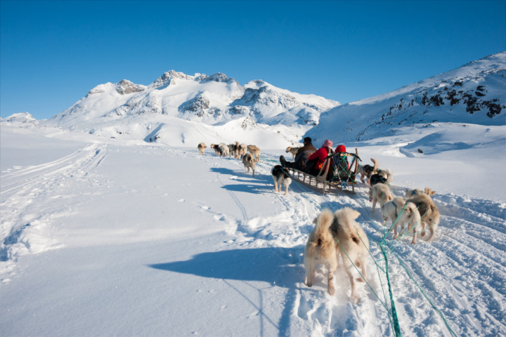 Greenland's winter sports areas