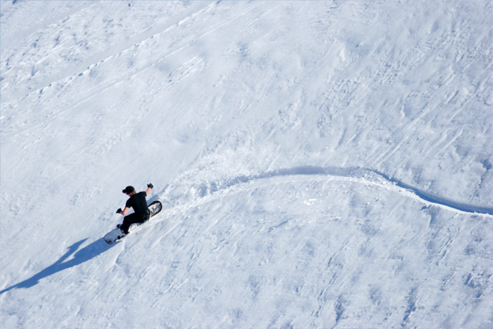 Snowboarding in Lesotho
