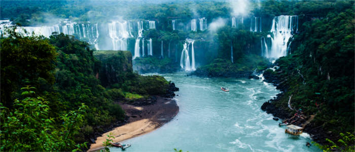Iguazu Falls in the Amazon region, Brazil