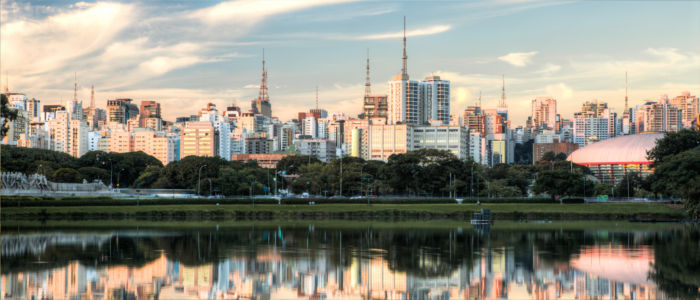Skyline of Sao Paulo in Brazil