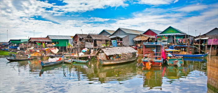 City on the water in Cambodia