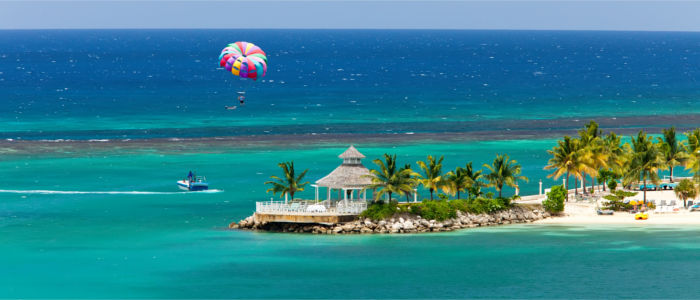 Jamaica in the Caribbean