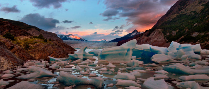 Grey Glacier in Torres del Paine National Park, Chile