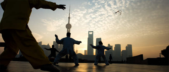 Martial artists in China