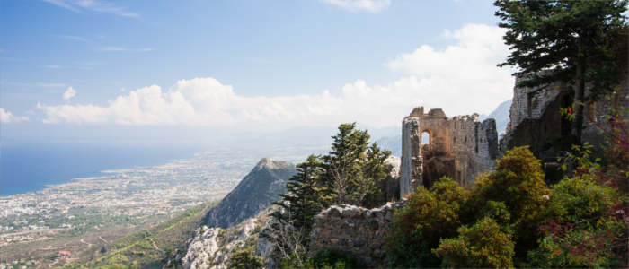 View of Cyprus from Saint Hilarion Castle