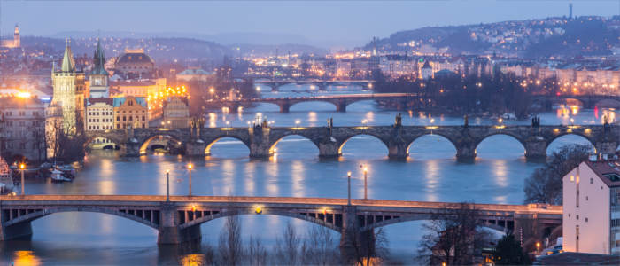 Prague's bridges in the Czech Republic