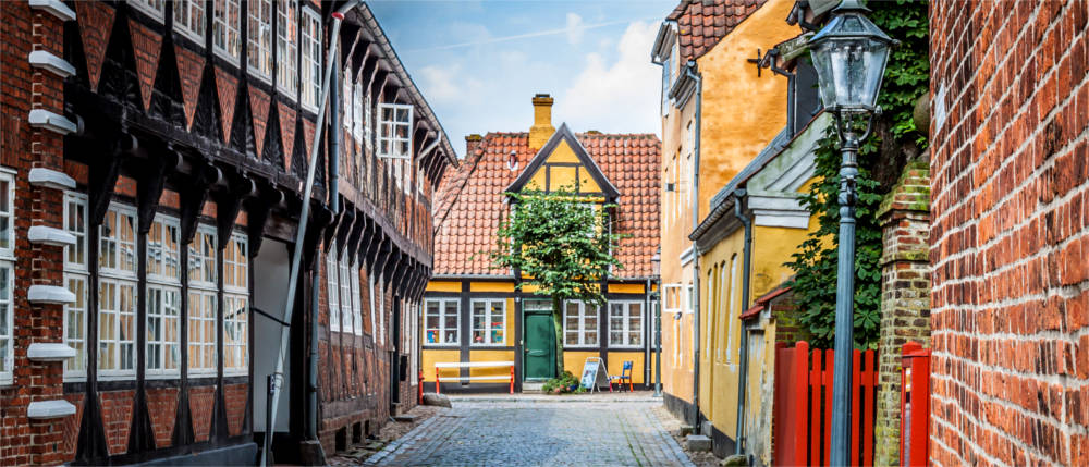 Half-timbered-houses in Ribe - South Jutland