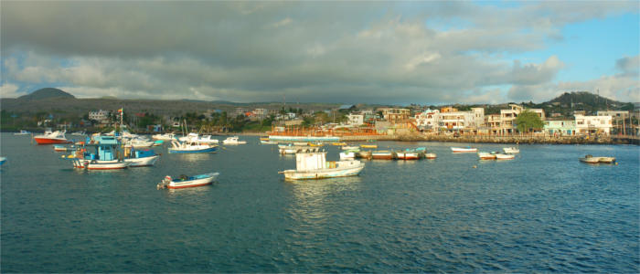 The harbour of San Cristóbal