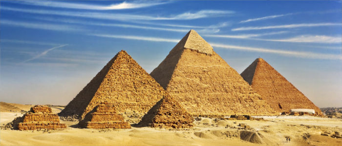 The Egyptian Pyramids in Giza, near Cairo, Egypt