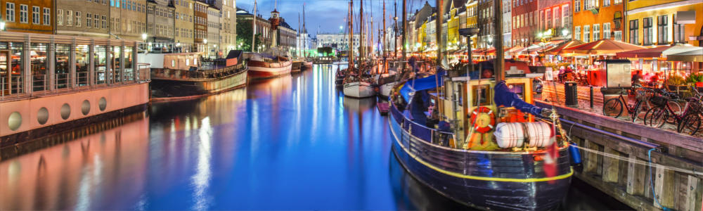 Travel destination of Copenhagen in Denmark
