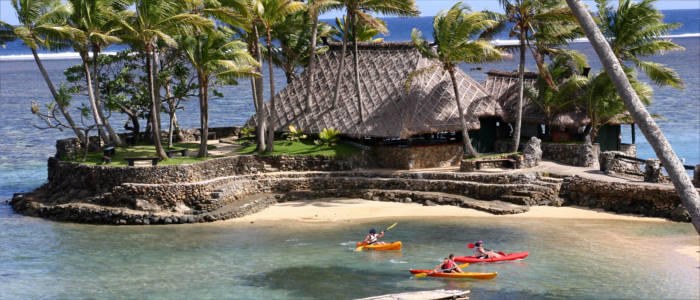 Exploring the Fiji Islands by kayak
