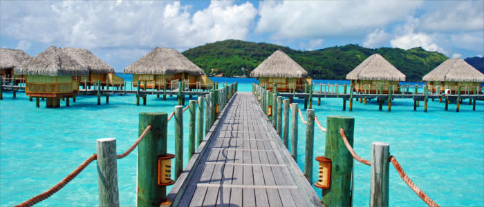 Bora Bora's stilt houses