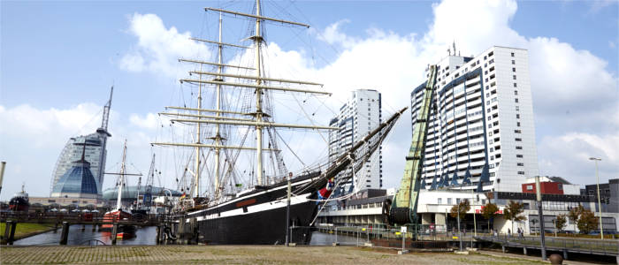 Museum harbour in Bremerhaven