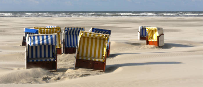 Beach chairs in Lower Saxony
