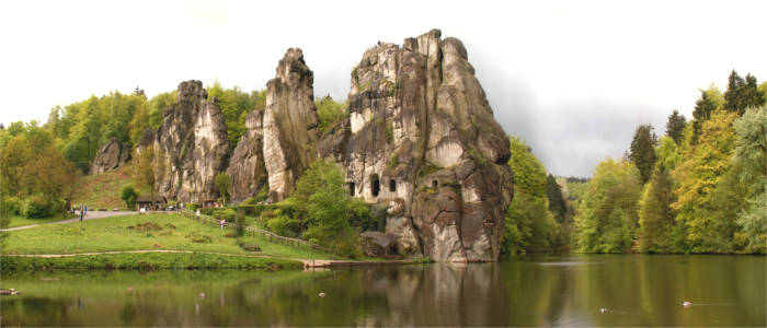Externsteine in the Teutoburg Forest