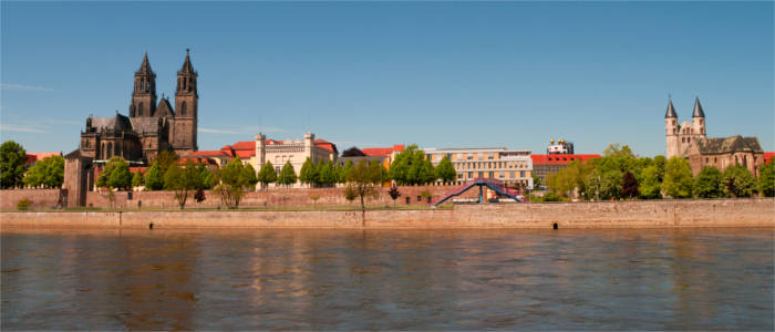 Cathedral of Magdeburg and the Elbe