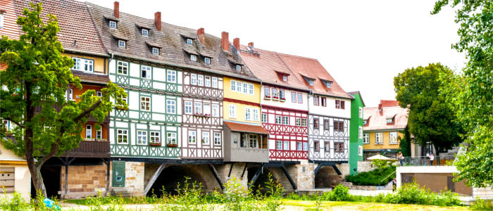 Typical architecture in Erfurt