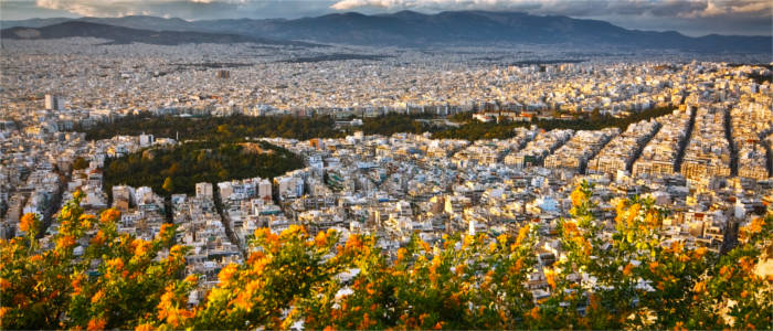 View of the metropolis of Athens
