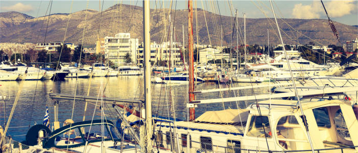 A yacht harbour in Athens in Attica