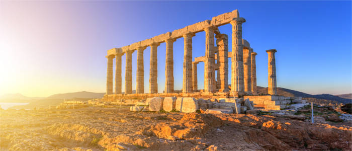 The Temple of Poseidon in Attica