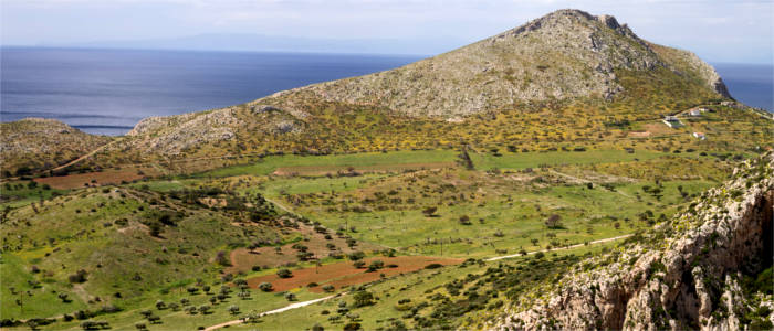 Green areas and bays in Attica