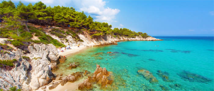 Beach on the peninsula of Halkidiki