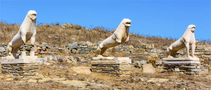 Archaeological finds on the island of Delos