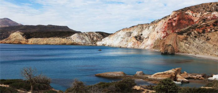 Typical coastal landscape in the Cyclades