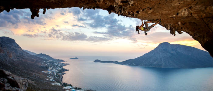 Rock climbing in the Dodecanese