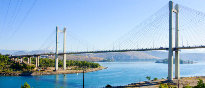 Chalkis Bridge between Euboea and the mainland